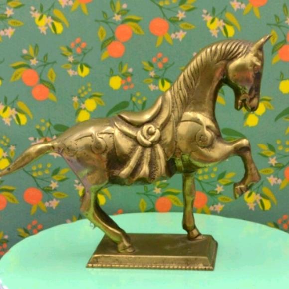 Vintage Brass Horse Figurine Paperweight